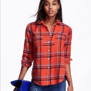 Old Navy Classic Plaid Flannel Top